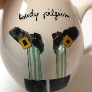 Rae Dunn  Howdy Pilgrim Mug Thanksgiving NEW